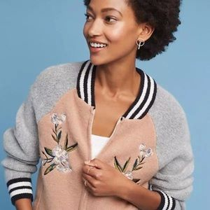 Anthropologie Maeve Embroidered Sweater